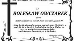 Zmarł Bolesław Owczarek. Żył 72 lata