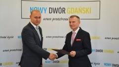 """""""Wzruszające pożegnanie"""" Zastępcy Burmistrza Nowego Dworu Gdańskiego."""