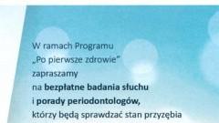 Gmina Stegna: Zapraszamy na bezpłatne badania słuchu i porady periodontologów