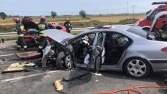 Dworek: Zderzenie czołowe dwóch aut osobowych. 4 osoby poszkodowane.