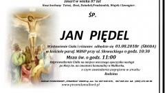 Zmarł Jan Piędel. Żył 87 lat