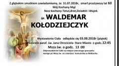 Zmarł Waldemar Kołodziejczyk. Żył 60 lat.