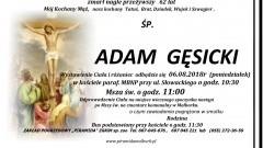 Zmarł Adam Gęsicki. Żył 62 lata.