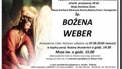 Zmarła Bożena Weber. Żyła 58 lat.