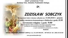 Zmarł Zdzisław Sobczyk. Żył 71 lat.
