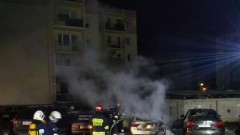 Pożar samochodów w Nowym Dworze Gdańskim.