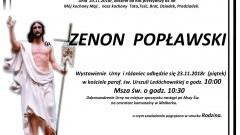 Zmarł Zenon Popławski. Żył 84 lata.