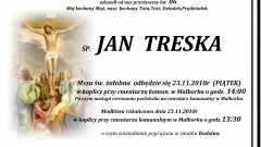 Zmarł Jan Treska. Żył 86 lat.