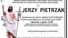 Zmarł Jerzy Pietrzak. Żył 74 lata.