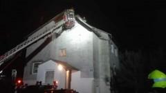 Marynowy: Pożar poszycia dachowego budynku mieszkalnego.