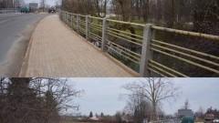Wymiana barierek na moście wzdłuż ulicy Warszawskiej w Nowym Dworze Gdańskim