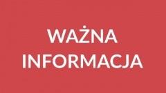 Komunikat Urzędu Miejskiego w Nowym Dworze Gdańskim.
