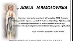 Zmarła Adela Jarmołowska. Żyła 94 lata.
