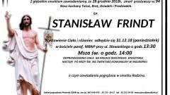 Zmarł Stanisław Frindt. Żył 94 lata.
