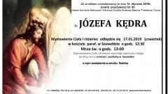Zmarła Józefa Kędra. Żyła 83 lata.
