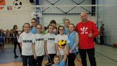 V miejsce drużyny ze Szkoły Podstawowej w Tujsku na Mistrzostwach Powiatu w Mini-piłce Siatkowej.