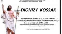 Zmarł Dionizy Kossak. Żył 90 lat.