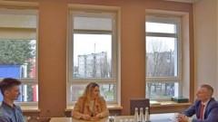 Burmistrz Nowego Dworu Gdańskiego spotkał się z przedstawicielami Samorządu Uczniowskiego Zespołu Szkół nr 2