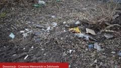 Dewastacja cmentarza mennonickiego w Żelichowie.