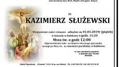 Zmarł Kazimierz Służewski. Żył 57 lat.