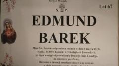 Zmarł Edmund Barek. Żył 67 lat.