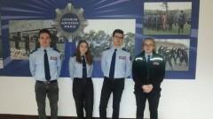 Uczniowie z nowodworskiego ZS nr 1 wzięli udział w eliminacjach do Turnieju klas policyjnych