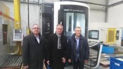 Starosta Nowodworski Jacek Gross odwiedził firmę Hydromechanika w Ostaszewie.