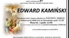 Zmarł Edward Kamiński. Żył 87 lat.
