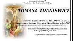 Zmarł Tomasz Zdaniewicz. Żył 37 lat.