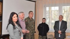 Nowy Dwór Gdański: Wicestarosta Barbara Ogrodowska przywitała uczestników kwalifikacji wojskowej