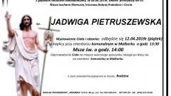 Zmarła Jadwiga Pietruszewska. Żyła 93 lata.