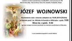 Zmarł Józef Wojnowski. Żył 71 lat.