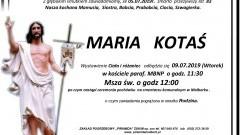 Zmarła Maria Kotaś. Żyła 83 lata