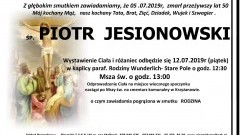 Zmarł Piotr Jesionowski. Żył 50 lat