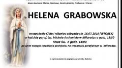 Zmarła Helena Grabowska. Żyła 83 lata.