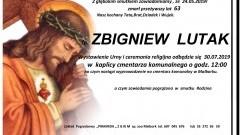 Zmarł Zbigniew Lutak. Żył 63 lata.