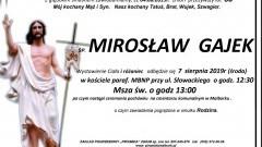 Zmarł Mirosław Gajek. Żył 60 lat.