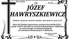 Zmarł Józef Hawryszkiewicz. Żył 70 lat.