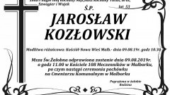 Zmarł Jarosław Kozłowski. Żył 53 lata.