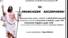 Zmarł Franciszek Szczepański. Żył 79 lat.