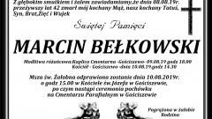 Zmarł Marcin Bełkowski. Żył 42 lata.