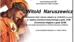 Zmarł Witold Naruszewicz. Żył 62 lata.