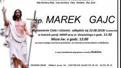 Zmarł Marek Gajc. Żył 58 lat.