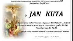 Zmarł Jan Kuta. Żył 78 lat.