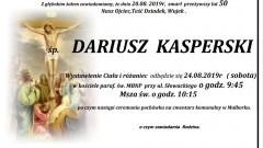 Zmarł Dariusz Kasperski. Żył 50 lat.