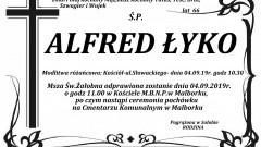 Zmarł Alfred Łyko. Żył 66 lat.