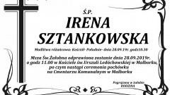 Zmarła Irena Sztankowska. Żyła 88 lat