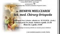 Zmarł Henryk Mielczarek. Żył 70 lat