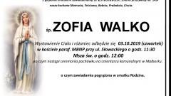Zmarła Zofia Walko. Żyła 95 lat.