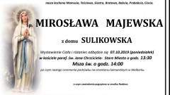 Zmarła Mirosława Majewska. Żyła 86 lat.